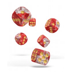 Oakie Doakie Dice dés 12D6 16mm - Gemidice - Red Sky