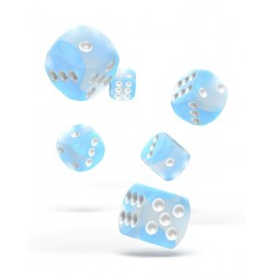 Oakie Doakie Dice dés 12D6 16mm - Glow in the Dark - Artic