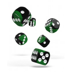 Oakie Doakie Dice dés 12D6 16mm - Glow in the Dark - Biohazard