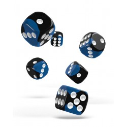 Oakie Doakie Dice 12D6 16mm - Glow in the Dark - Deep Ocean
