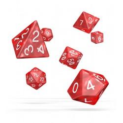 Oakie Doakie Dice dés RPG Set - Marble - Rouge
