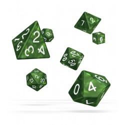 Oakie Doakie Dice RPG Set - Marble - Green