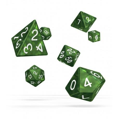 Oakie Doakie Dice dés RPG Set - Marble - Vert