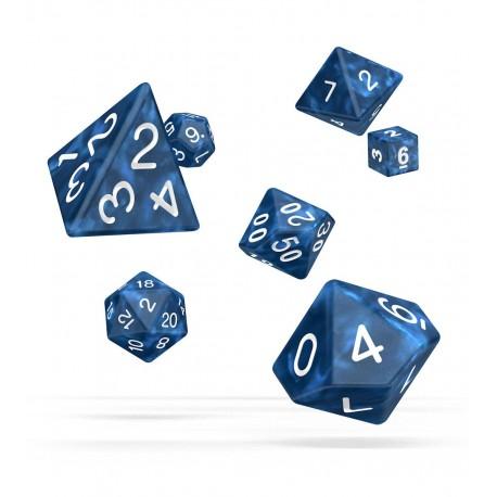 Oakie Doakie Dice RPG Set - Marble - Blue