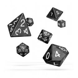Oakie Doakie Dice dés RPG Set - Marble - Noir