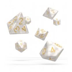 Oakie Doakie Dice RPG Set - Marble - White