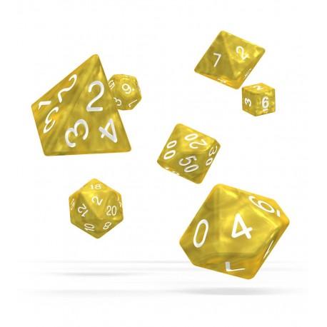 Oakie Doakie Dice RPG Set - Marble - Yellow