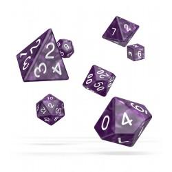 Oakie Doakie Dice RPG Set - Marble - Purple