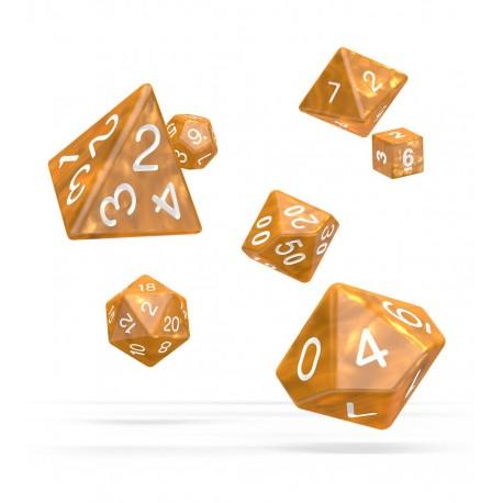 Oakie Doakie Dice RPG Set - Marble - Orange