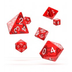 Oakie Doakie Dice RPG Set - Translucent - Red
