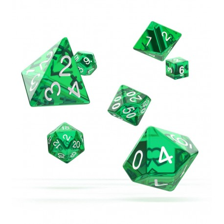 Oakie Doakie Dice RPG Set - Translucent - Green