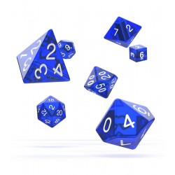Oakie Doakie Dice dés RPG Set - Translucent - Bleu