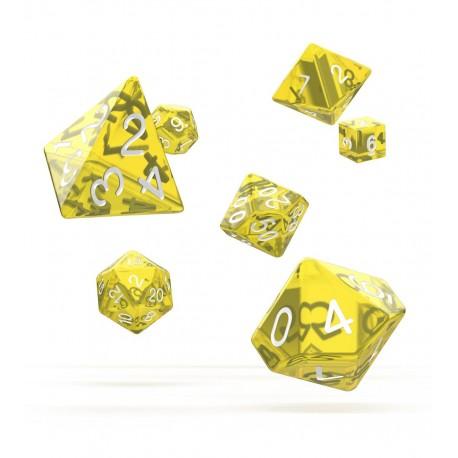Oakie Doakie Dice RPG Set - Translucent - Yellow