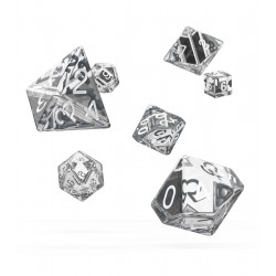 Oakie Doakie Dice RPG Set - Translucent - Clear