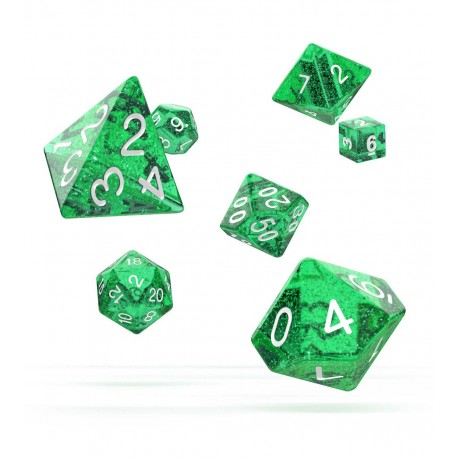Oakie Doakie Dice RPG Set - Speckled - Green