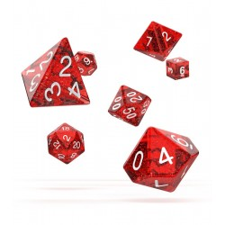 Oakie Doakie Dice - RPG Set - Speckled - Red