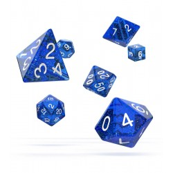 Oakie Doakie Dice - RPG Set - Speckled - Blue