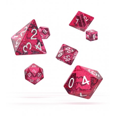Oakie Doakie Dice RPG Set - Speckled - Pink