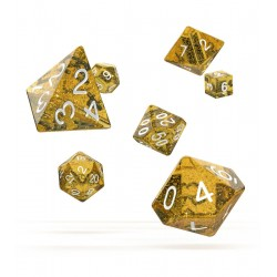 Oakie Doakie Dice - RPG Set - Speckled - Orange