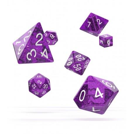 Oakie Doakie Dice RPG Set - Speckled - Purple