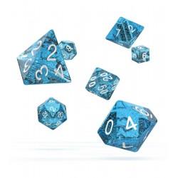 Oakie Doakie Dice RPG Set - Speckled - Light Blue