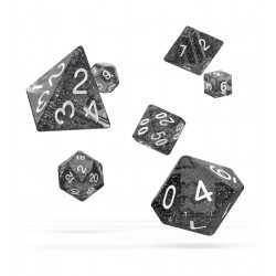 Oakie Doakie Dice - RPG Set - Speckled - Black