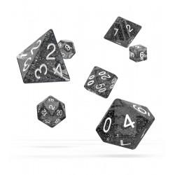 Oakie Doakie Dice RPG Set - Speckled - Black