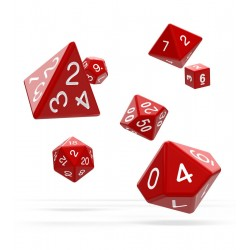 Oakie Doakie Dice - RPG Set - Solid - Red