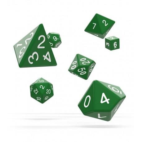 Oakie Doakie Dice RPG Set - Solid - Green