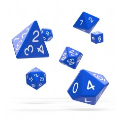 Oakie Doakie Dice - RPG Set - Solid - Blue