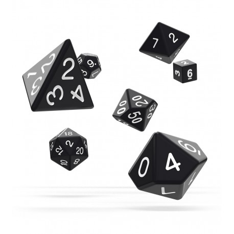 Oakie Doakie Dice RPG Set - Solid - Black