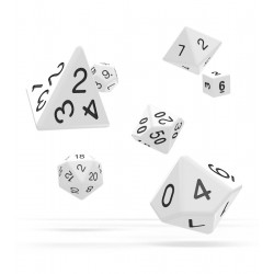 Oakie Doakie Dice - RPG Set - Solid - White