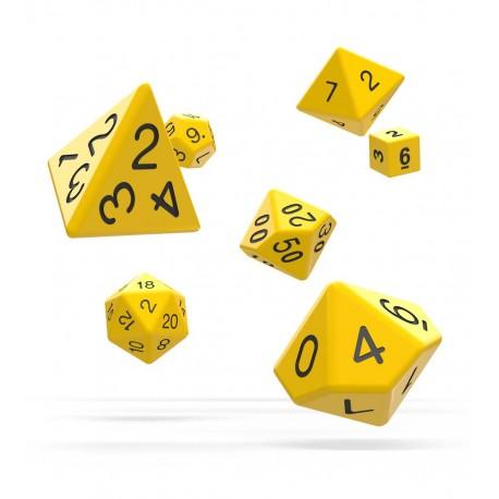 Oakie Doakie Dice RPG Set - Solid - Yellow