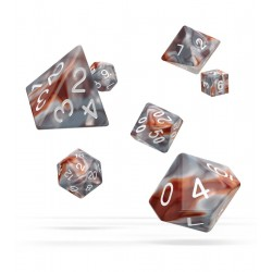 Oakie Doakie Dice - RPG Set - Gemidice - Silver Rust