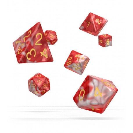 Oakie Doakie Dice RPG Set - Gemidice - Red Sky