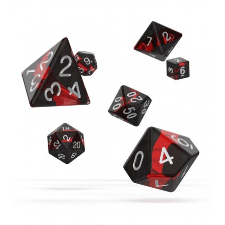 Oakie Doakie Dice dés RPG Set - Enclave - Ruby
