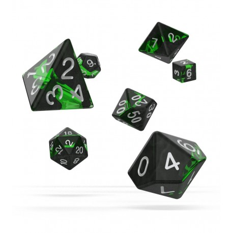 Oakie Doakie Dice RPG Set - Enclave - Emerald