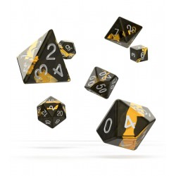 Oakie Doakie Dice RPG Set - Enclave - Amber
