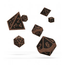 Oakie Doakie Dice RPG Set - Metal Dice - Steampunk