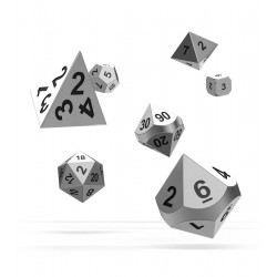 Oakie Doakie Dice RPG Set - Metal Dice - Mercury