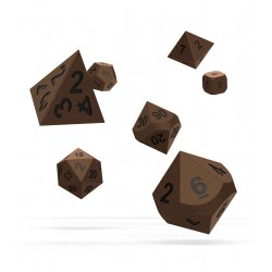 Oakie Doakie Dice RPG Set - Metal Dice - Brasstige