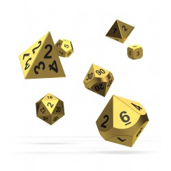 Oakie Doakie Dice RPG Set - Metal Dice - Aurym