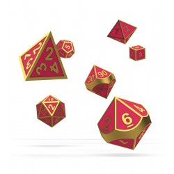 Oakie Doakie Dice RPG Set - Metal Glow in the Dark - Golden Princess