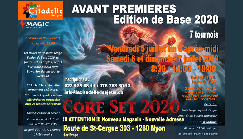 7 Core Set 2020 Prereleases from friday July 5th to Sunday July 7th 2019
