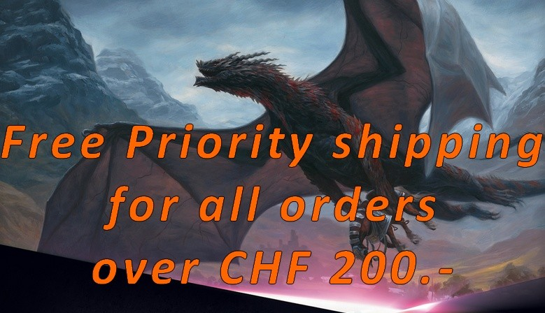 Free Priority shipping for all orders over CHF 200.-