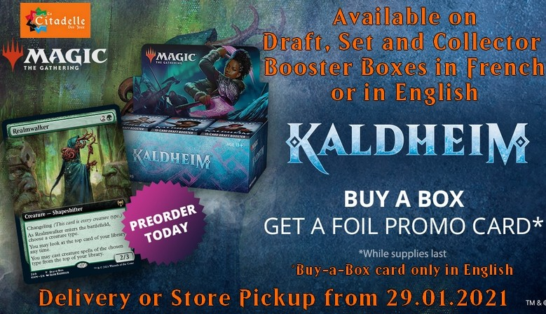 Buy-a-Box and get an english Foil promo card delivery from 29.01.2021